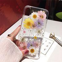 Secas Flor Folha de prata Limpar Phone Cases para iPhone XS Max XR X 6 6S 7 8 Plus 11 Pro Max SE silicone suave tampa traseira