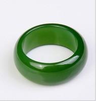 Naturlig xinjiang hetian jade jade ring manliga och kvinnliga modeller nakna sten ursprungliga sten jade ring smycken