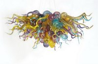 Домашний декор Красочные выдувного муранского стекла Люстра итальянски Modern Art Decor Glass Чихули Стиль Люстра