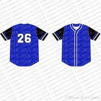 Вверх на заказ трикотажные изделия бейсбола Mens вышивки Logos Джерси Бесплатная доставка Дешевые оптовая любое имя любое число Размер M-XXL 69
