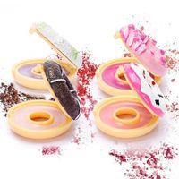 크리 에이 티브 귀여운 컬러 풀 한 도넛 형 립밤 스위트 도넛 모이스춰 라이징 롱 라스팅 무색 영양가있는 안티 립스틱