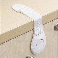 10pcs / Lot sicurezza prodotti per l'infanzia bambino blocca a doppia faccia cassetto dell'armadio serratura serrature panno fibbia della cintura per bambini adesivi sdvvs # SLZ