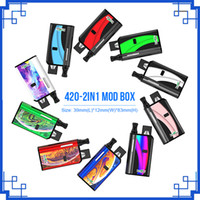 Original Kangvape 420 2em1 Box Mod VV Kit 650mAh Pré-aquecer Voltage Variable 2 em 1 bateria para suportados Pod 510 cartuchos vs th420