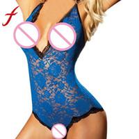 Feitong Mulheres Lingerie Sexy Erótico Corset Racy Muslin Bodysuit Tentação Cueca Sleepwear Nightdress babydoll Quente 2019