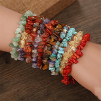 New Fashion Natural Stone Irregular Beads Stretchy Bracelet ...