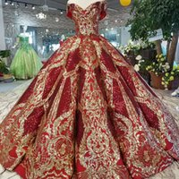 2019 Luxury Floor Length Queen Prom Dresses Red Curve Shape ...
