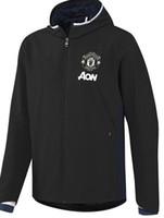 barato por atacado de Futebol Fatos com capuz jaqueta corta-vento Uniforme kits Esportes Fardas camisa desgaste Treino homens de Futebol Masculino