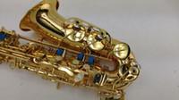 Yanagisawa A-W02 Strumento per studenti di alta qualità Eb Tone Saxophone E Flat Spedizione gratuita in ottone dorato Lacca Sax con custodia