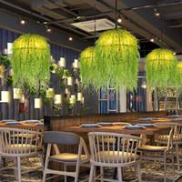 Green Plant Pendelleuchten Kleidung Schaufenster kreative Dekoration hängende Lichter Dessert-Shop Kaffee Restaurant Personality Penant Lampen
