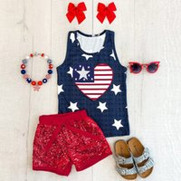 High quality Toddler Baby 4th of July Stars and Stripe Print...