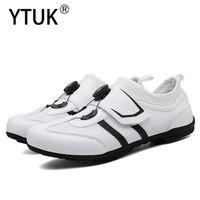 Calçados Calçados YTUK Sapatos de Estrada Homens Bicicleta Mountain Bike Ultralight Sneakers Self-Locking Professional Respirável MTB Mulheres