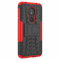 Classical For Moto G7 Power Case Soporte Rugged Combo Hybrid Armor Bracket Funda de funda de impacto para Motorola Moto G7 Power Edición para EE. UU.