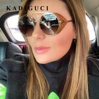 Kadiguci خمر الشرير نظارات النساء الرجال للجنسين نظارات steampunk جولة ريترو نظارات الشمس للنساء اعتصامات ماركة نظارات نظارات شعبية k357