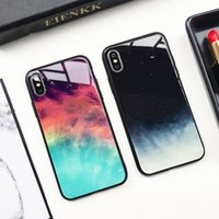 For iphone xs max phone case INS style starry cold wind glas...