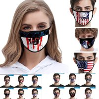 Cartoon Ice Silk Printing Face Mask For 2020 American Flag M...