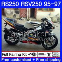 Кузов Для Aprilia RS-250 RSV250 RS250 1995 1996 1997 кузова Матовый черный HOT 319HM.3 RSV250RR RS250R 95-97 RSV 250 RR RS 250 95 96 97