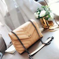 2020 spalla del cuoio genuino della benna Borse Donna inclinato Messenger Bag Vintage Blocco busta postino borsa delle donne della designer borse
