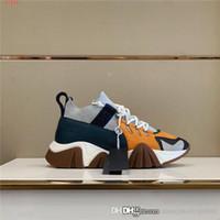 متعدد الألوان الربط عارضة سميكة سوليد حذاء بابا للرجال والنساء منخفض أعلى الرأس المستديرة تشغيل أحذية رياضية، والتعبئة الكاملة