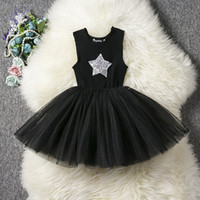 Girls sequins stars see- through dress Kids Fashion blingblin...