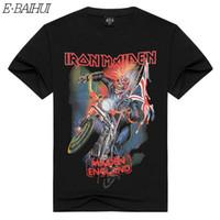 E-BAIHUI T-Shirt Amerikanisches Hip-Hop-Mode-T-Shirt für Männer / Frauen 3D T-Shirt Europäische und Amerikanische Bands Druck Kurzarm DX-62