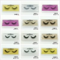 Wholesale 29 style short false eyelash 3d mink eyelashes col...