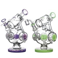 2020 new recycler bong heady pipes dab rig green pink purple...