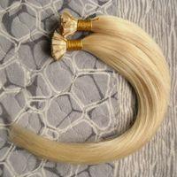 """Heiße verkäufe # 613 Bleach Blonde Reine Brasilianische Gerade Menschenhaar Billig Italienische keratin fusion Nagelkleber U TIP Remy Haarverlängerungen 24 """"26"""""""