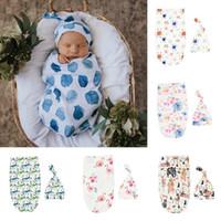 6スタイルの幼児幼児インススワードルボーイズガールズベア恐竜毛布+帽子新生児の柔らかい綿の睡眠袋2本/セット寝袋
