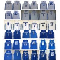 Kentucky Wildcats College 0 Fox 5 Moine 3 Adebayo John 11 Mur 12 Villes 15 Cousins Anthony 23 Davis Devin 1 Booker Basketball Jersey