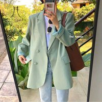 여성용 정장 블레이저스 Heydress 여성 봄 세련된 싱글 브레스트 빈티지 한국 여성 느슨한 재킷 캐주얼 스트리트 오피스 레이디 outwear