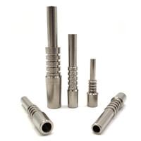 Punta del titanio del titanio di ricambio del titanio più economico Punta premium 10mm 14mm 18mm Grado invertito 2 G2 Titanio TI Tips Tips per il kit NC in silicone