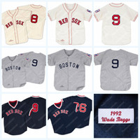 Boston Carl Yastrzemski 1967 Ted Williams 1939 Wade Boggs 1992 Vintage Baseball Jersey Alle Stitiched SAST Versand