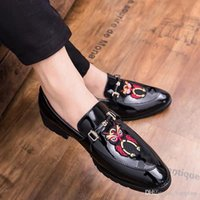 Korean version of the British hair stylist leather shoes rai...