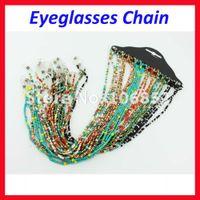 أزياء ملونة مطرز لؤلؤة مكبرة نظارات القراءة نظارات سلسلة الحبل حامل الحبل