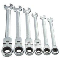 Pivotante alta calidad flexible carraca Llave de llaves combinadas Garaje métrica Herramienta 6 mm 7 mm 8 mm 10 mm 11 mm 12 mm