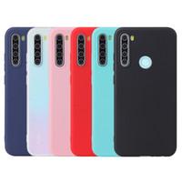 Конфеты цвет матовый матовый противоударный мягкий TPU силиконовая резина гель чехол для Xiaomi Redmi Note 8 Pro 8T 8A 7A 6 K30 K20 GO S2 Y2 A2 Lite