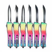 colorato diamante della maniglia del modello a doppia azione tattica autodifesa coltello pieghevole edc auto coltello da tasca coltelli auto regalo di natale Admi