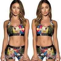 Womens Swimwear Two Piece Shorts Set Swimsuit Animal Lion Do...