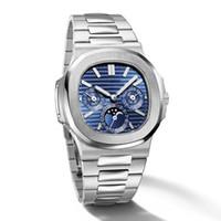 Reloj New Quality Haute Qualité Montre Mécanique Mécanique Phase Steel Steel Inox Business Militaire 5740 / 1G-Nautilus Mens Montres