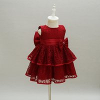 New Baby Girl Dress Hollow Lace Princess Infant Wedding Part...