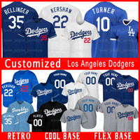 Custom Dodgers 22 Clayton Kershaw Los Angeles jerseys 99 Hyu...