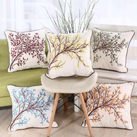 Cotton Throw Pillow Cases Covers for Couch Sofa Bed Vivid Co...
