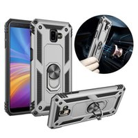 Hybrid Armor Metal Ring Stand Magnetic Car Case For Samsung ...