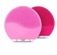 Electric Facial Cleanser Brush Silicone Sonic Vibration Mini...