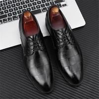 Sıcak Satış-italyan oxfordlar resmi ayakkabı Man Sivri Burun Elbise Ayakkabı Erkek Rugan Siyah Düğün Oxford Örgün Büyük Boy