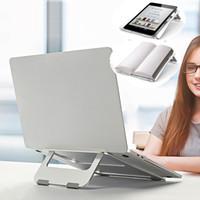 Nuevo soporte portátil de escritorio Aluminio plegable portátil soporte antideslizador de goma almohadilla de escritorio Tablet PC Soporte para MacBook iPad Cuaderno Libros