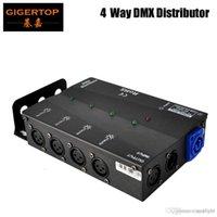 Çoklu Kurulum Yöntemleri 4 Kanal DMX Dağıtıcı, Tüm Sahne Işık Geniş Giriş Güç Kaynağı, 3Pins veya 5Pins Seçilir
