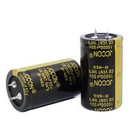 JCCON سميكة قدم مكثف كهربائيا حجم 50v15000uf 30x50 السلطة العاكس الصوت مكثف السلطة مكبر للصوت