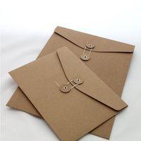 Brown Kraft Paper A5 / A4 Porta documenti A5 / A4 Busta di archiviazione Busta di archiviazione con serratura con serratura per ufficio