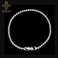 TREAZY Einfache Kristall Braut Armbänder Für Frauen Silber Farbe Strass Armbänder Armreifen Brautjungfer Hochzeit Schmuck Geschenk